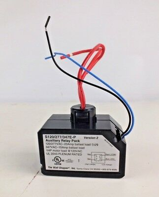 New Watt Stopper S120/277/347E-P Auxiliary Relay Pack 120/277VAC-20Amp Ballast