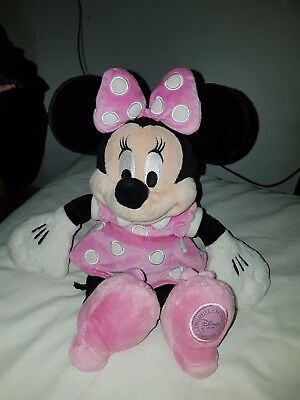 "Minnie Mouse, plush soft toy, approx 14"" tall from Disney Store"