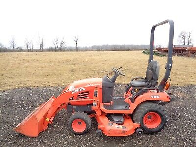 "2013 Kubota BX2670 Tractor w/ Front Loader, 4WD, Hydro, 60"" Belly Mower, 26HP"