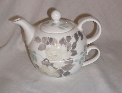 Laura Ashley  Bone China Teapot & Cup  Set For One Ideal Gift