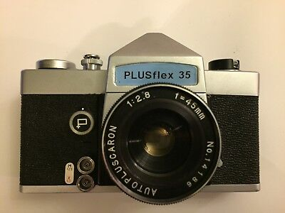 Vintage Plusflex 35 Camera with Autopluscaron 1:2.8 f=45mm Lens Made in Japan