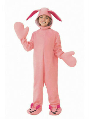 christmas story pink bunny pajamas bodysuit child costume medium 8 10