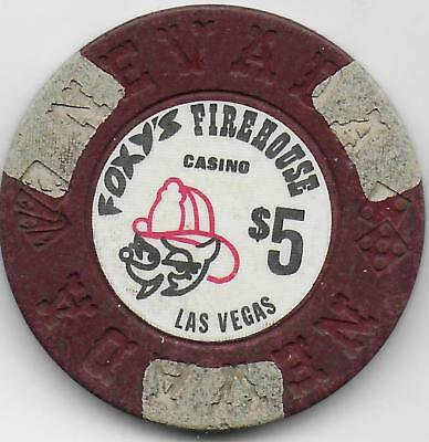 Obsolete $5 Casino Chip From FOXY'S FIREHOUSE-Las Vegas, Nv. N1625-Closed 1988