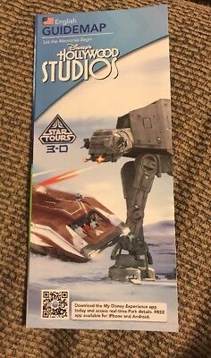 Hollywood Studios Disney World Park Guide Map Cover : Star Tours 3D