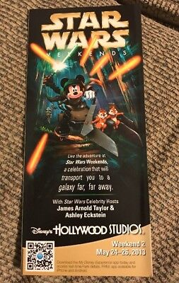Hollywood Studios Disney World Park Guide Map Cover : 2013 Star Wars Weekends 2