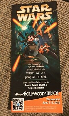 Hollywood Studios Disney World Park Guide Map Cover : 2013 Star Wars Weekends 4