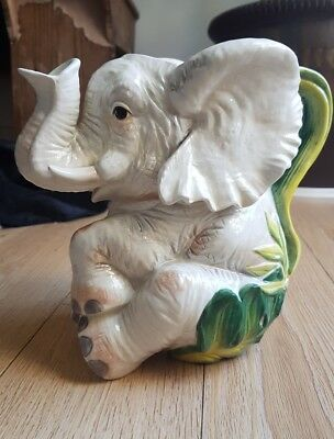 cape town pottery fitz and floyd elephant jug