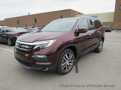 2018 Honda Pilot Touring AWD Touring AWD New 4 dr SUV Automatic Gasoline 3.5L V6 Cyl Deep Scarlet Pearl