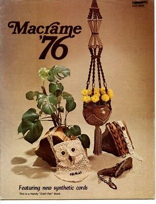 Macrame '76  - purse, necklace, choker, belts, light, plant hangers, eagle