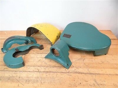 """Lot Of Assorted Guards + Rear Guard Mount Parted Off South Bend 13"""" Lathe"""