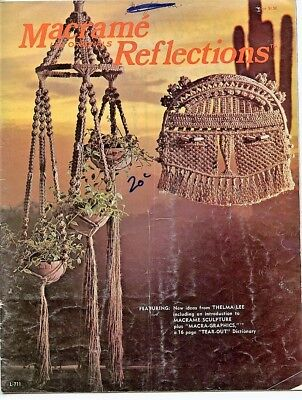 Macrame Reflections - Lee Originals - 1978 - plant hangers, sculptures
