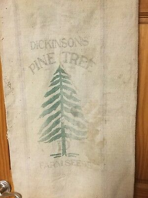 Vintage Dickerson Pine Tree Farm Seed Cloth Sack