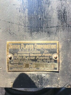 Motor Player Corporation Vintage Vacuum Pump player piano / organ H-2174