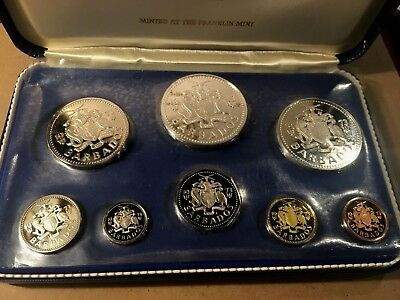 1973 Barbados Proof Set w/ Original Mint Packaging, w/ Box, Certificate etc.