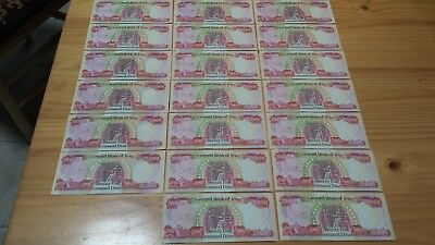 25000 Iraq Dinar banknotes  new uncircalated.20 notes ; 500.000