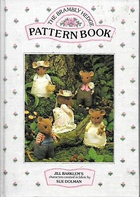 The Brambly Hedge Pattern book toy making mouse mice clothing vintage 1988 HB