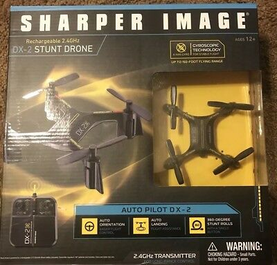Sharper Image Rechargeable Dx 2 Stunt Drone 24 Ghz Black 2222