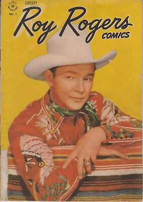 1948  Issue # 1 Roy Rogers Photo Cover Western Dell Vintage Comic Book 10 Cent
