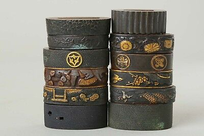 Antique FUCHI Japanese Sword Katana Fittings Koshirae Wakizashi tsuba menuki Edo