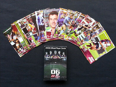 Rare post futera 2006 Super Rugby Union Queensland Reds Team Card Set  17 cards