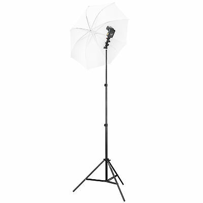 Square Perfect Speedlite Swivel Flash Mount w Umbrella Bracket Light Stand