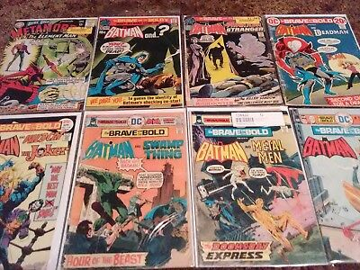 DC Comics Brave and the Bold Bronze Age lot Batman 35-book lot #58 to 200 1955