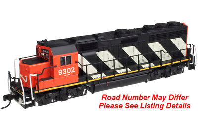 """N Atlas GP40 Locomotive - Canadian National / CN """"Stripes"""" #9302 - DCC Equipped"""