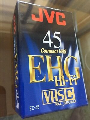 Jvc Vhs C Video Tape Ec-45 Ehg | Pal Secam  | 45 Mins | Hi-Fi | Brand New