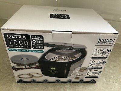 James Products ULTRA7000 Digital Ultrasonic Jewellery & Spectacle Cleaner New