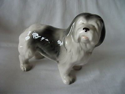 Vintage pottery Model of an Old English Sheepdog – by Melba Ware Ref 613
