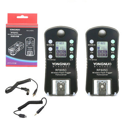 YONGNUO RF-605 605C Wireless Flash Speedlite Trigger shutter with LCD for Canon