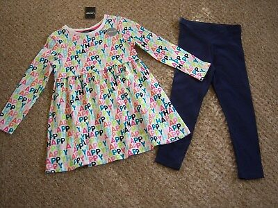 """BNWT AGE 2-3,3-4,4-5 YEARS GIRLS """"GEORGE"""" TOP & LEGGINGS OUTFIT (next day post)"""