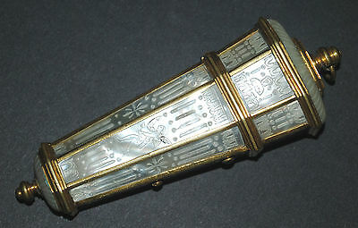 Rare Antique French 18Th  Carved Mother Of Pearl Needle Case Sewing Etui Cherubs