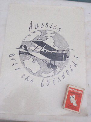 WW1 Aust. Flying Corp in England