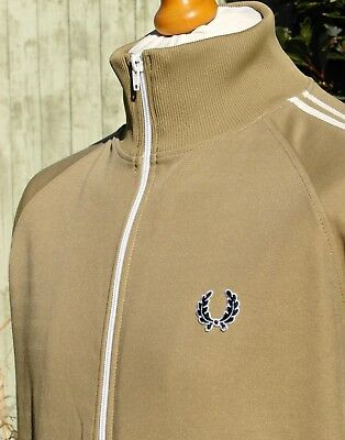 Fred Perry Gold Twin Taped Track Jacket - L/XL - Ska Mod Scooter Casuals Skins