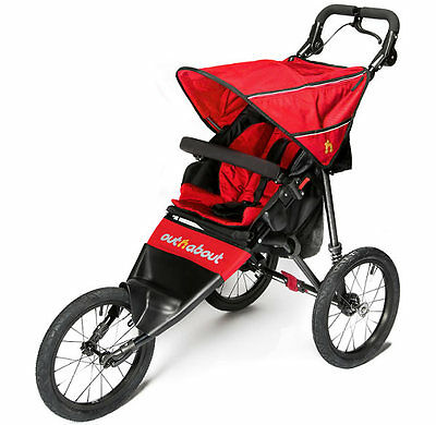 New Out n about nipper sport V4 pushchair carnival red & raincover pre order
