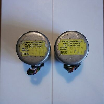 Pair Sowter 3777 microphone and line transformers. As used in classic calrec