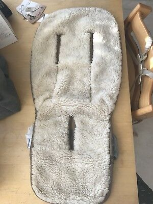 Genuine Bugaboo Sheepskin Reversible Liner Summer Winter Used But With Tags
