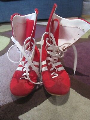 Boxing Boots By Boxfit - Cambrelle - Size 8 - Red