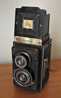 Vintage 1937 Zeiss Ikoflex I 850-16 (Early) TLR Camera With Brass Plate