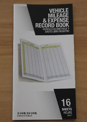 Vehicle Mileage & Expense Record Book