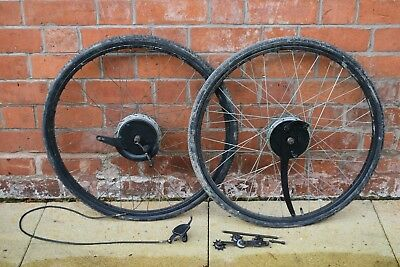 1936 Trivelox/ Bh Super Tandem 3 Speed Drum Brake Vintage Tandem Wheel Set