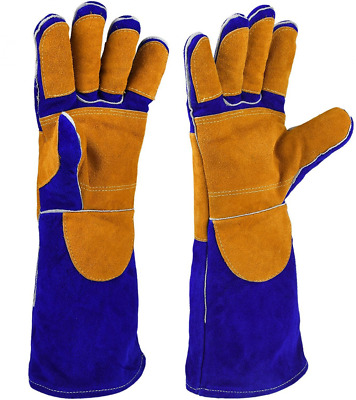 Leather Welding Gloves with CE Certificates, Heat Resistance Anti-scratch Cut Re