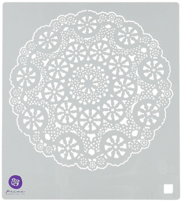 Prima Marketing Plastic Designer Stencil 6-inch x 6-inch, Doily #2