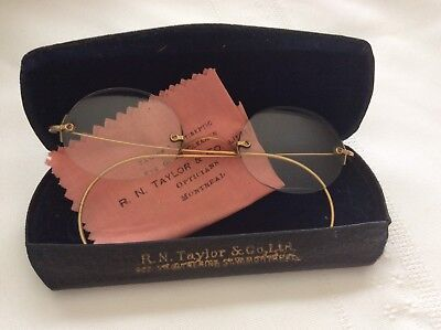 Antique Glasses Spectacles R N Taylor Montreal