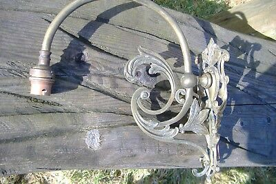 Antique Art Nouveau Brass Wall Bracket Light