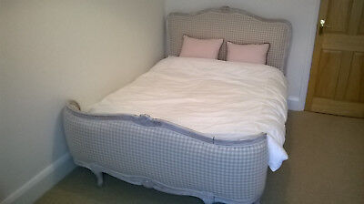 French bed- newly upholstered double bed and cushions