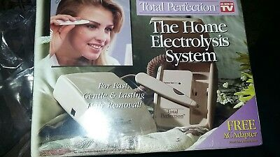 NIB Total Perfection The HOME ELECTROLYSIS SYSTEM  Hair Remover Removal Kit