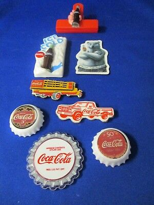 Coca Cola Eight Refrigerator Magnets
