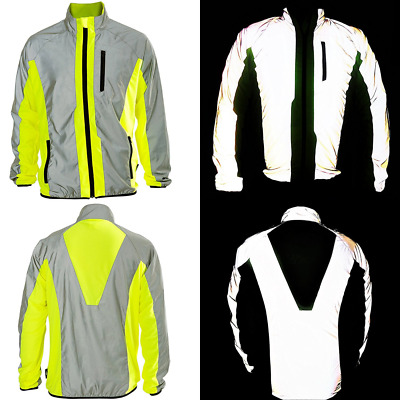 BTR Hi Vis Reflective Jacket Ideal For Cycling, Running, Jogging, Riding. Fits M
